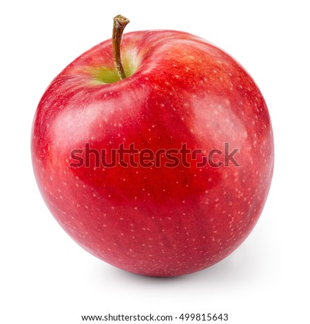 Fresh red apple isolated on white. With clipping path. Royalty-Free Stock Photo #499815643
