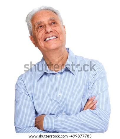Senior man portrait. #499877785