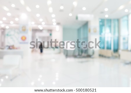 Abstract blur beautiful luxury hospital and clinic interior for background Royalty-Free Stock Photo #500180521