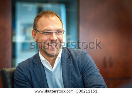 KIEV, UKRAINE - October 18, 2016: Verkhovna Rada deputy from the Batkivshchyna Party Fatherland Sergei Vlasenko. member of the Ukrainian delegation to PACE #500211151
