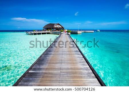 beach in Maldives #500704126