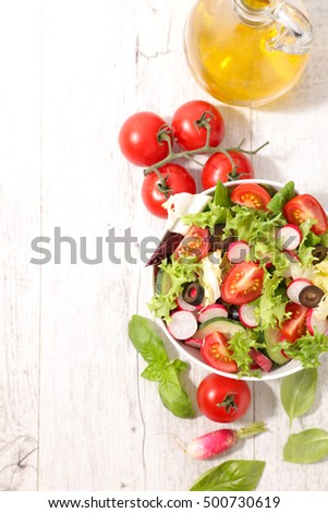 fresh salad #500730619