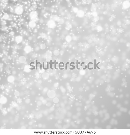 Lights on grey or silver background. Christmas background. #500774695