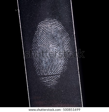 Fingerptint isolated on black #500851699