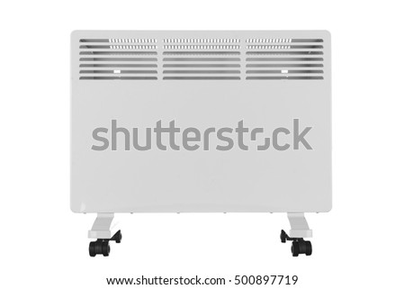 New electric radiator on a white background #500897719