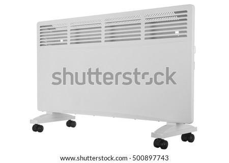 New electric radiator on a white background #500897743