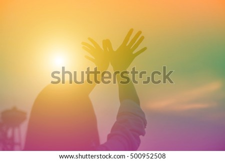 hands-shape for the Sun. #500952508