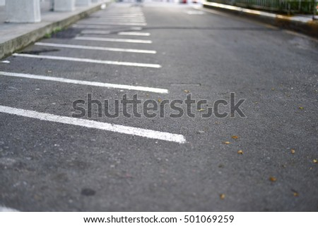 White line of parking for motorbike  or motorcycle #501069259