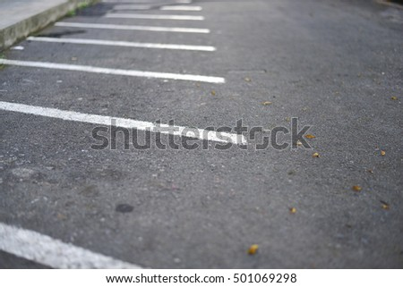 White line of parking for motorbike  or motorcycle #501069298