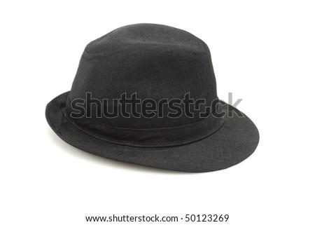 Old fashion black hat on white background #50123269