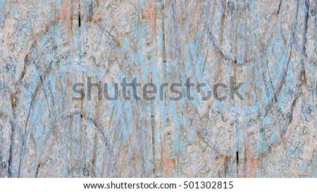 Old color grunge vintage weathered background abstract antique texture with retro pattern. Modern futuristic painted wall for backdrop or wallpaper with copy space. Close up image. 16:9 aspect ratio #501302815