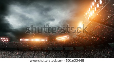 stadium light 3d rendering Royalty-Free Stock Photo #501633448