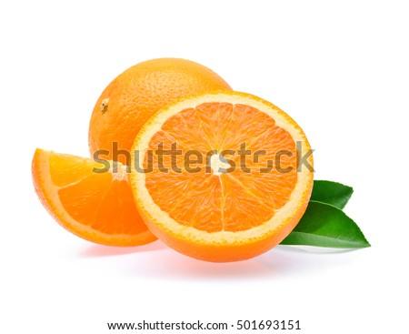 Orange fruit isolated on white background #501693151