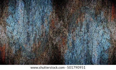Old color grunge vintage weathered background abstract antique texture with retro pattern. Modern futuristic painted wall for backdrop or wallpaper with copy space. Close up image. 16:9 aspect ratio #501790951