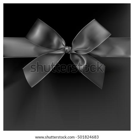 Black ribbon on black color background, illustration design. #501824683