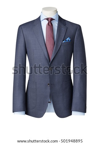 business suit on Mannequin isolated with clipping path. #501948895