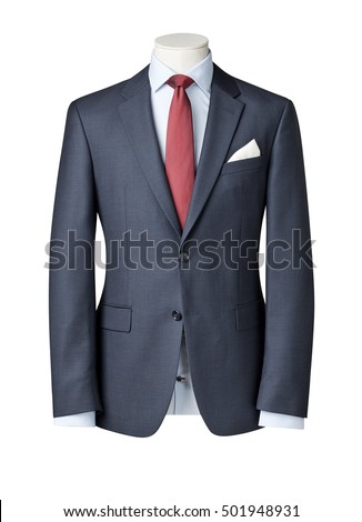 business suit on Mannequin isolated with clipping path. #501948931
