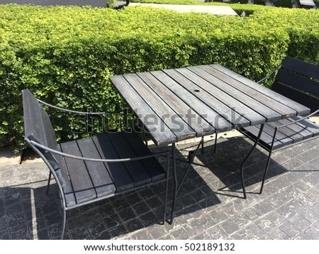 Wood table chair at Thailand #502189132