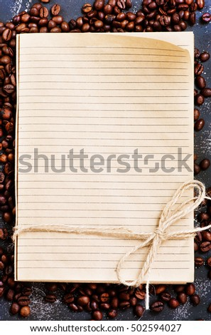 coffee and notebook #502594027