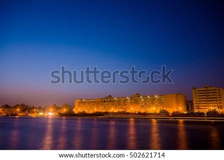 Dubai creek. Gulf of Dubai, United Arab Emirates #502621714