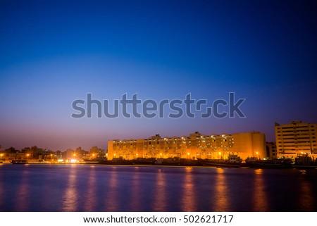 Dubai creek. Gulf of Dubai, United Arab Emirates #502621717