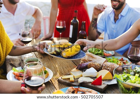 Group Of People Dining Concept #502705507