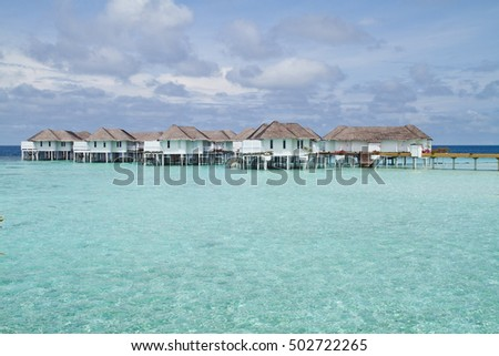 Beautiful Over water Bungalows in Maldives #502722265