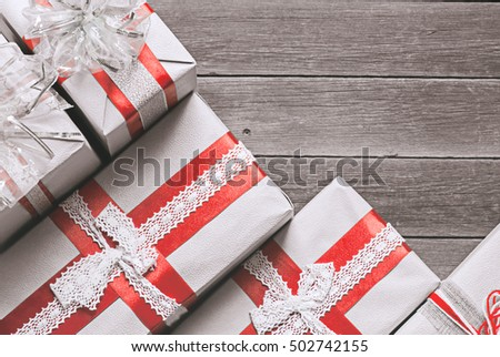 christmas gift box with decoration #502742155