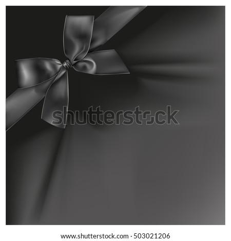 Black ribbon on black color background, illustration design. #503021206