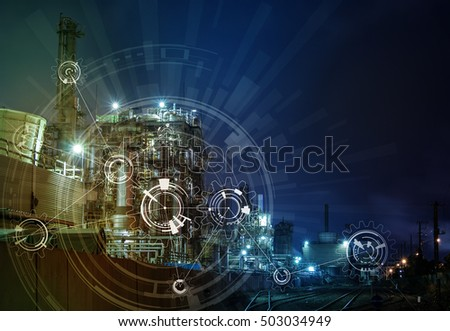 modern manufacturing industry and mechanization concept, abstract image visual #503034949