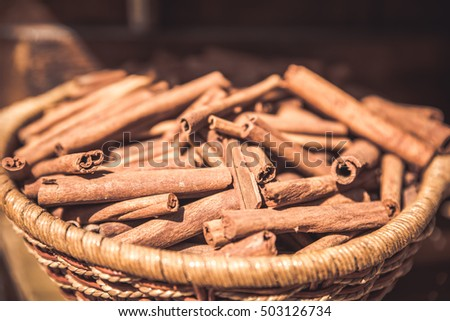 Cincamon sticks -  spice for cooking and backing #503126734