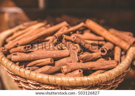 Cincamon sticks -  spice for cooking and backing #503126827