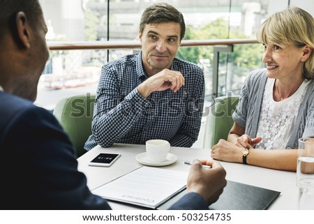 Business Discussion Talking Deal Concept #503254735