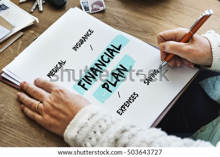 Financial Plan Retirement Investment Diagram Concept #503643727