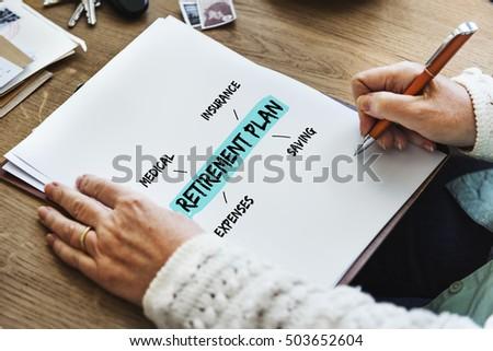 Retirement Plan Diagram Graphic Concept #503652604