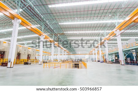 Factory workshop interior and machines #503966857