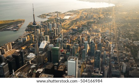 Aerial view of Toronto city