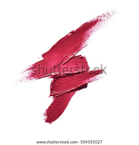 Collection of various Smears lipstick on white background Royalty-Free Stock Photo #504181027