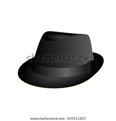 Isolated hipster hat on a white background, Hipster Vector illustration #504251203
