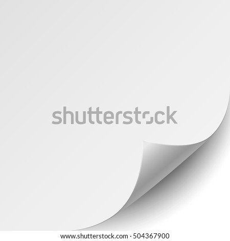 Empty paper sheet on white background.