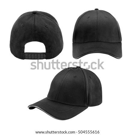 blank hat in black isolated on white background #504555616