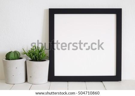 mock up frame photo