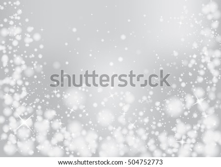Grey sparkles glitter and rays lights bokeh abstract christmas background/texture.  Vector background.  #504752773