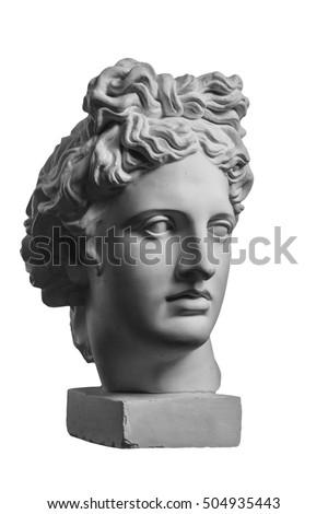 Gypsum statue of Apollo's head #504935443