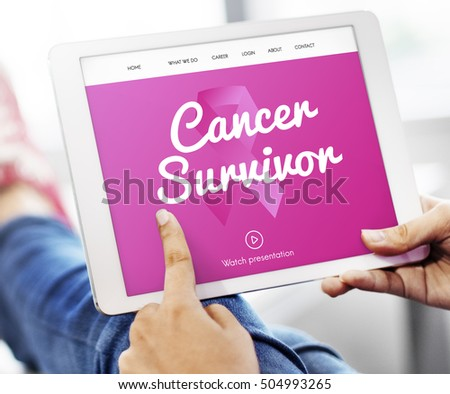 Pink Ribbon Cancer Presentation Concept #504993265