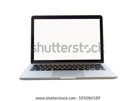 isolate laptop on white background with clipping path #505086589