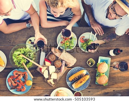 Group Of People Dining Concept #505103593