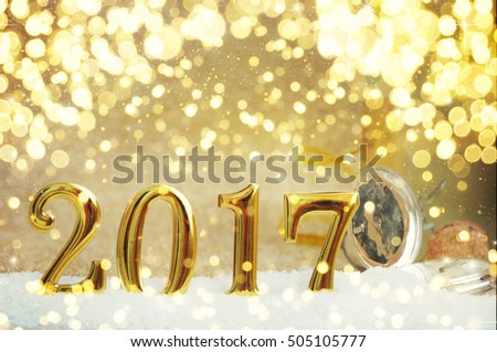 New Year Celebration, christmas tree background with bokeh. #505105777