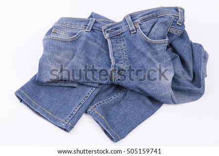 jeans pants on the table #505159741