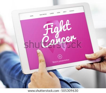 Pink Ribbon Cancer Presentation Concept #505309630